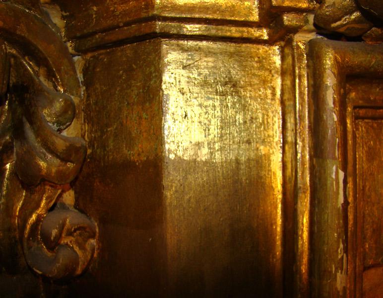 Detalle Columna Retablo Catedral de Santander