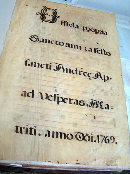 Página de un Cantoral de la Catedral de Santander