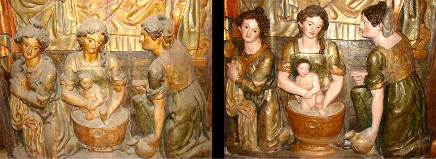 Relieve Mujeres Retablo de La Catedral de Santander